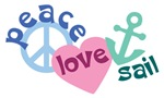 Peace Love Sail T-shirts