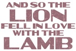 Lion Lamb Quote T-shirts