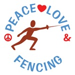 Peace Love Fencing Shirts