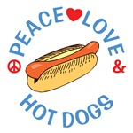 Peace Love Hot Dogs T Shirts