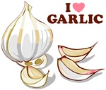 I Love Garlic T Shirts