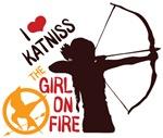 I Love Katniss Girl On Fire Shirts
