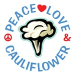 Peace Love Cauliflower Shirts