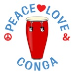 Peace Love Conga Shirts
