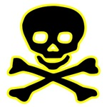 Yellow Jolly Roger Skull T-Shirts & Gifts