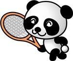 Panda Tennis Player