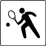 Tennis Player Icon Sign