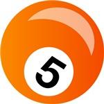 Orange Five Ball