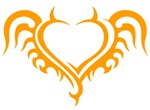 Orange Heart With Horns