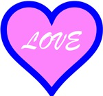 Pink and Blue Love Heart