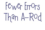Fewer Errors Than A-Rod