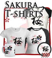 Sakura Cherry Blossom, Japanese Tees