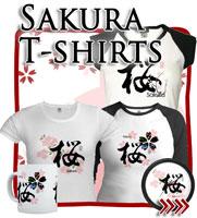 Sakura Cherry Blossom, Japanese Tees