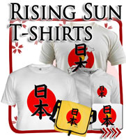 Rising Sun Flag T-shirts, Japanese T-shirts