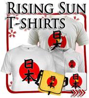 Rising Sun Flag T-shirts, Japanese T-shirts
