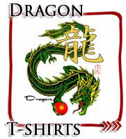 Green Japanese Dragon Kanji T-shirts