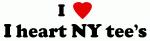 I Love I heart NY tee's