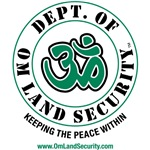 Dept of Om Land Security Yoga Symbol Om T Shirts