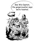Retro Comic Astronauts