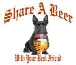 Scottish Terrier Shares A Beer