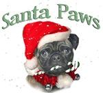 Pug Santa Paws Loves You