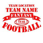 Personalized Fantasy Football Red