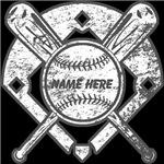 Baseball Diamond Bat Ball Personalized