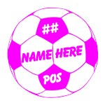 Soccer Ball Personalized Pink