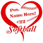 Softball Heart Player Personalize