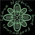 Leave Nothing but Boot Print Green