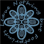Leave Nothing but Boot Print Blue