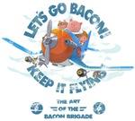 When pigs fly - Bacon brigade - Vintage print edit