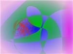 Transparent Green on Lavender Background