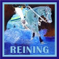 Blue Reining Horse