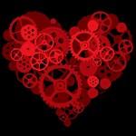 Steampunk Red Heart