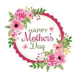 Happy Mother's Day Floral Wreath
