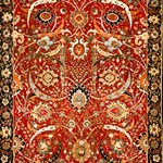 Vintage Red Floral Persian