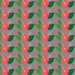 Tropical Hibiscus Floral Pattern