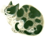 Vintage Chinese Painting of Cat