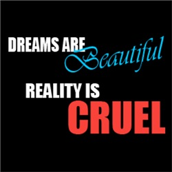 Dreams are beautiful, Reality is Cruel