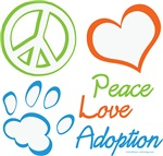 Peace Love Adoption Summer Colors