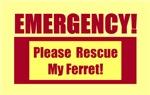 EMERGENCY DOOR & WINDOW STICKERS FOR FERRETS