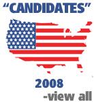 US Map Flag - Candidates 2008