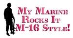 My Marine Rocks It M-16 Style!