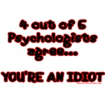 4 outta 5 Psychologists