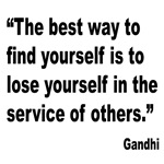 Gandhi Find Yourself Quote