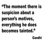 Gandhi Motives Quote