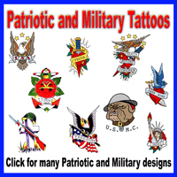Patriotic and Military Tattoos