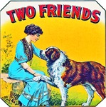 Two Friends Cigar Label