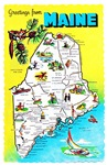 Maine Map Greetings